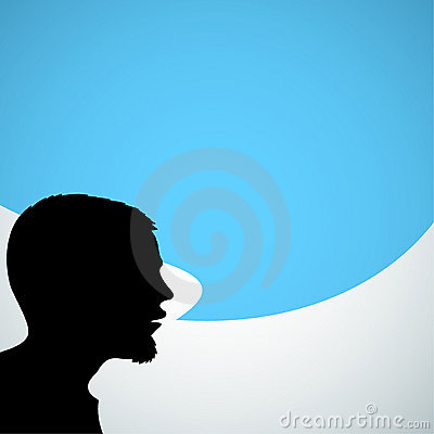 Abstract speaker silhouette