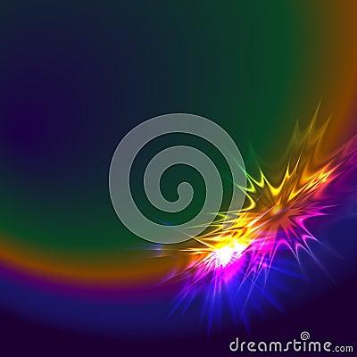 Abstract spectrum star