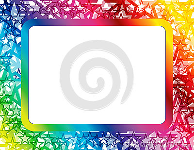 Abstract Spectrum Star Frame