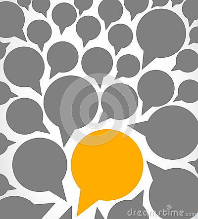 Abstract speech bubbles design