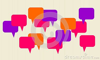 Abstract speech bubbles in vector