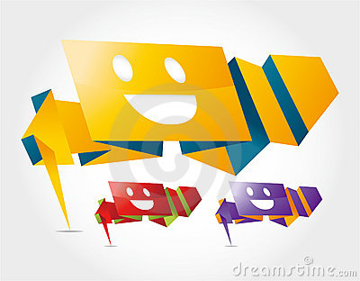Abstract speech smile fece,vector backgrounds set.