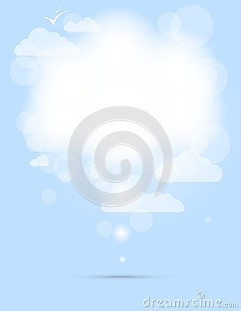 Abstract speech white shining cloud