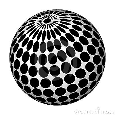 Abstract sphere.