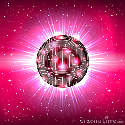 Free Abstract Sphere Of Electronic Circuitry Stock Photos - 37556163