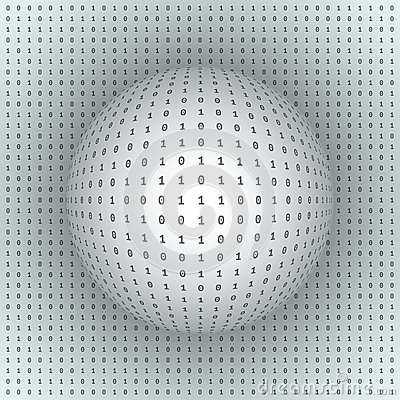 Free Abstract Sphere On Binary Background Stock Photos - 38534913