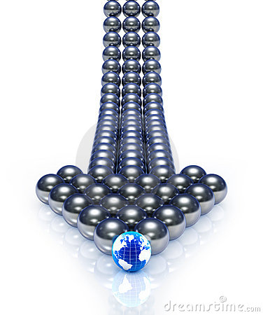 Abstract spheres arrow
