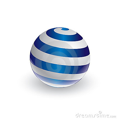 Abstract spiral ball in 3d
