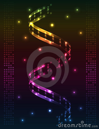 Abstract spiral - colored  background
