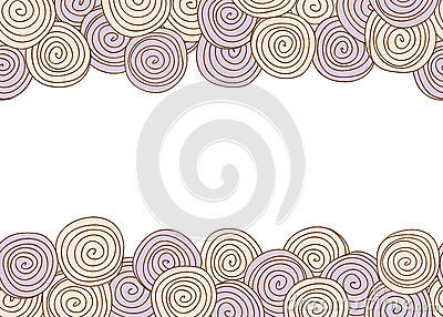Abstract spiral seamless background with frame