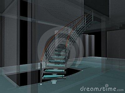 Abstract Spiral Staircases Constructions 01