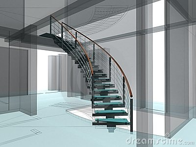 Abstract Spiral Staircases Constructions 02