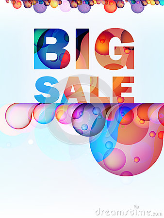 Abstract splash Big Sale card. + EPS10