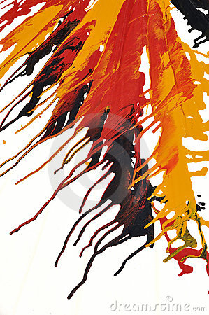 Abstract splash oil colors