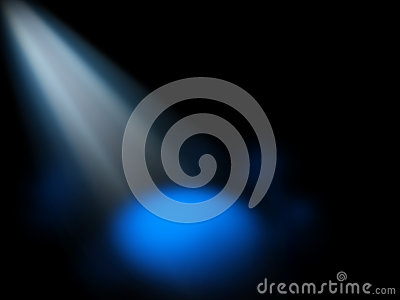 Abstract spotlight blue background