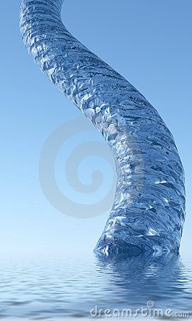 Abstract spout of water