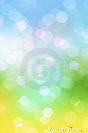 Abstract spring background with blur lights