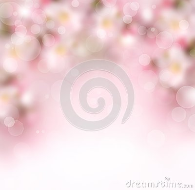 Free Abstract Spring Background With Flowers Royalty Free Stock Photo - 39053865