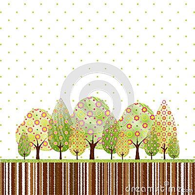Abstract springtime tree