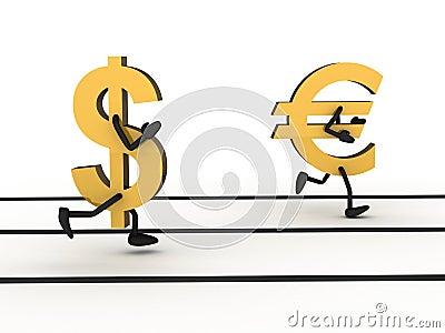 Abstract sprint money