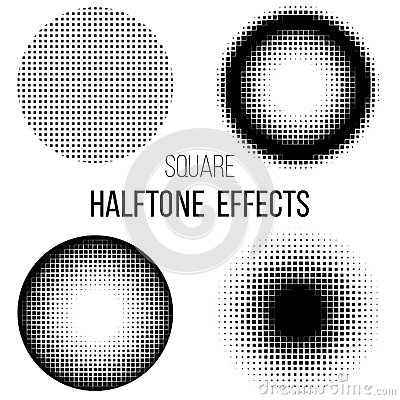 Abstract  square halftone