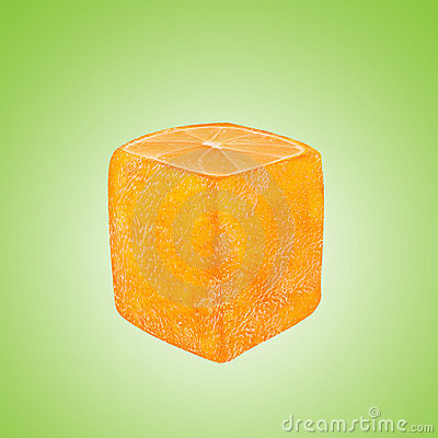 Abstract square orange fruit