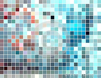 Abstract square tiled mosaic background