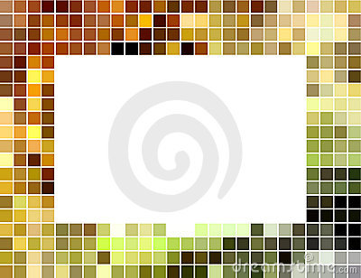 Abstract square tiled mosaic frame