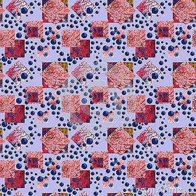 Free Abstract Squares And Rhombus Seamless Pattern. Watercolor Geometric Background In Patchwork Style. Royalty Free Stock Photography - 111507377