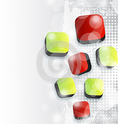 Abstract squares background for your advertise car