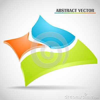 Abstract squares vector