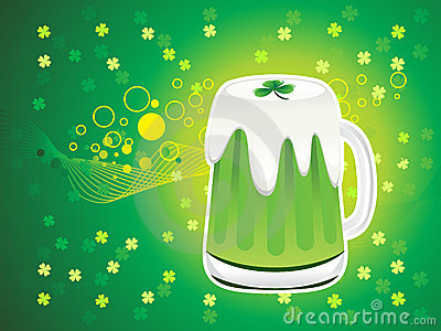 Abstract st patrick beer background