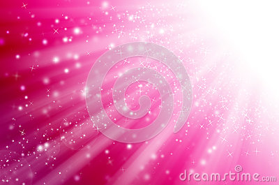 Abstract star light with pink  background.