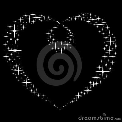 Abstract Star s Heart.  Vector Illustration.