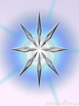 An Abstract Star Shines Stock Photography - Image: 8340772