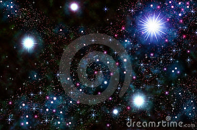 Abstract stars on a black background