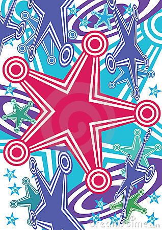 Abstract Stars Hit Target Active_eps