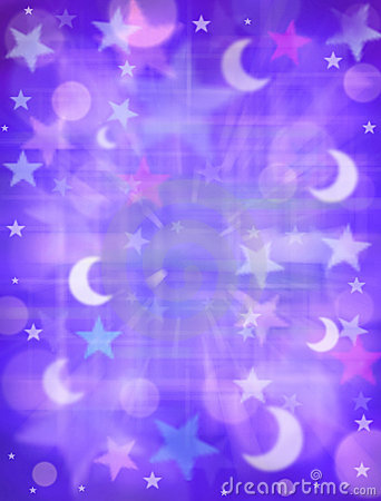 Abstract Stars Moon Dreams Background