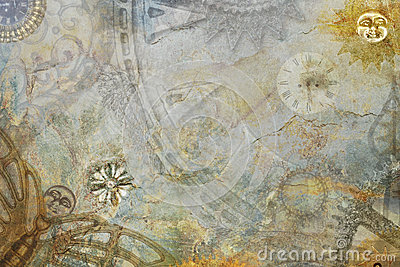 steampunk cogs abstract fantasy - photo #18