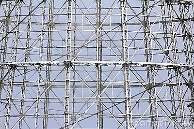 Abstract steel truss