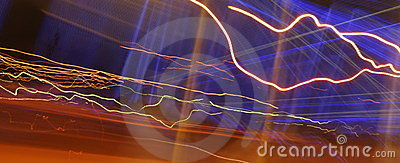 Abstract streaks and colors