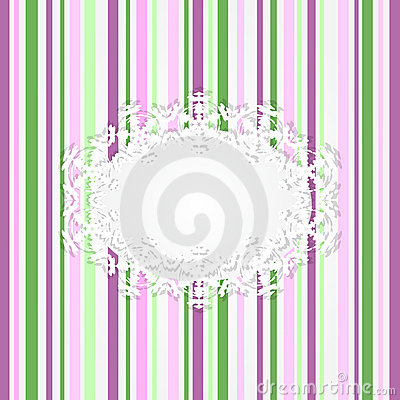 Abstract striped pink card