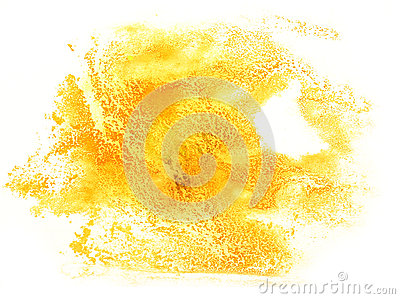 Abstract stroke ink watercolor brush water yellow color splash p