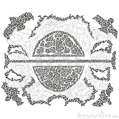 Abstract stylized B&W pattern background