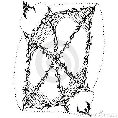 Abstract Stylized B&W Shield Stock Photo - Image: 18841520