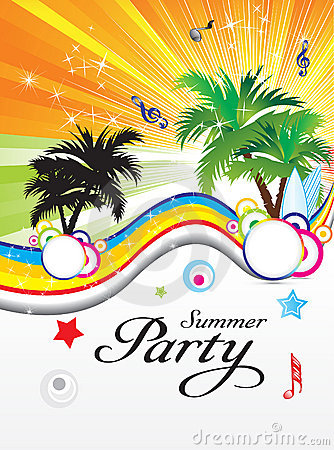 Free Abstract Summer Party Theme Stock Image - 19675431