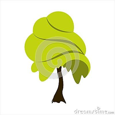 Abstract summer tree