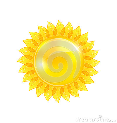 Abstract sun isolated on white background