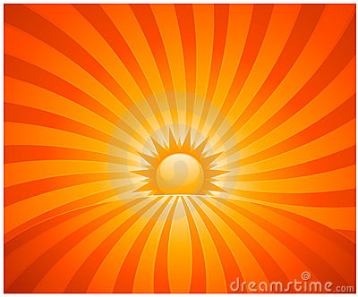 Abstract sunburst