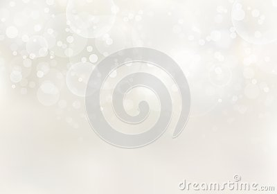 Abstract sunlight blurred light brown background with bokeh lights effect and copy space Vector Illustration